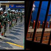 DAILY VENEZUELA II / VENEZUELA COTIDIANA II<br /> Photography by Aaron Sosa <br /> <br /> Left: Guardia Nacional Bolivariana de Venezuela, Caracas - Venezuela 2009 / National Guard of Venezuela, Caracas - Venezuela 2009<br /> <br /> Right: La Pastora, Caracas - Venezuela 2008<br /> <br /> (Copyright © Aaron Sosa)