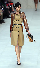 FEB 18 2013 Burberry Prorsum show at London Fashion Week A/W 2013