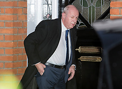 "© Licensed to London News Pictures. 18/12/2017. London, UK. First Secretary of State DAMIAN GREEN seen leaving his London home on December 18, 2017. The findings of an inquiry in to the conduct of MP Damian Green are expected to be released before parliament breaks for Christmas later this week. Former police officers alleged that ""extreme"" pornography was found on Damian Green's work computer during a police raid in 2018. Green was already under investigation for allegedly propositioning former Tory activist, Kate Maltby. Photo credit: Ben Cawthra/LNP"