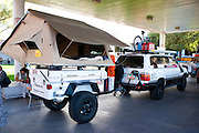 SEMA 2011 in Las Vegas Nevada, an automobile after market show. Adventure Trailers, Chaser.