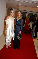 Left to right, DAPHNE GUINNESS and EMILIA FOX at a party to celebrate the 90th birthday of Vogue magazine held at The Serpentine Gallery, Kensington Gardens, London on 8th November 2006.<br />