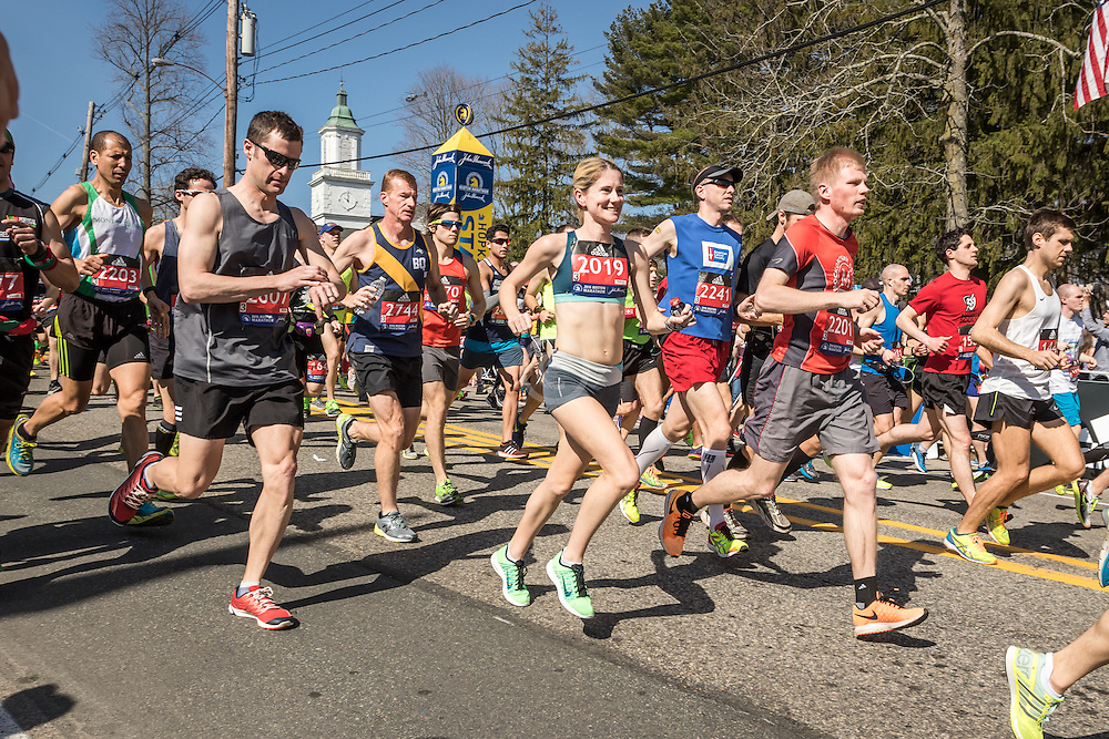 Karen, Lockyer, Boston Marathon start