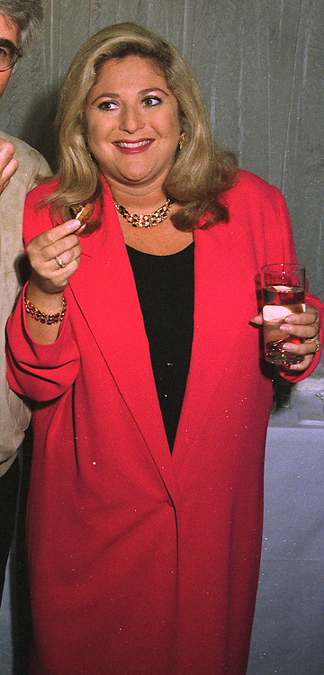 TV presenter VANESSA FELTZ at a party in London on October 21st 1997.<br /> MCI 38 WO