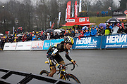 Belgium, Sunday 13th December 2015: Images from the elite men's and women's races at the Hansgrohe Superprestige cyclocross races at Spa Francorchamps.<br />
