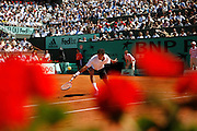 Roland Garros. Paris, France. June 6th 2006..Mario Ancic against Roger Federer during the 1/4 finals.