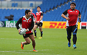 Fumiaki Tanaka of Japan during the Japan Captain's Run training session in preparation for the Rugby World Cup at the American Express Community Stadium, Brighton and Hove, England on 18 September 2015.