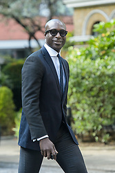 Ozwald Boateng arrives for the wedding of Wikipedia founder Jimmy Wales to Tony Blair's former diary secretary, Kate Garvey at Wesley's Chapel, City of  London, October 6, 2012. Photo by Fiona Hanson / i-Images.