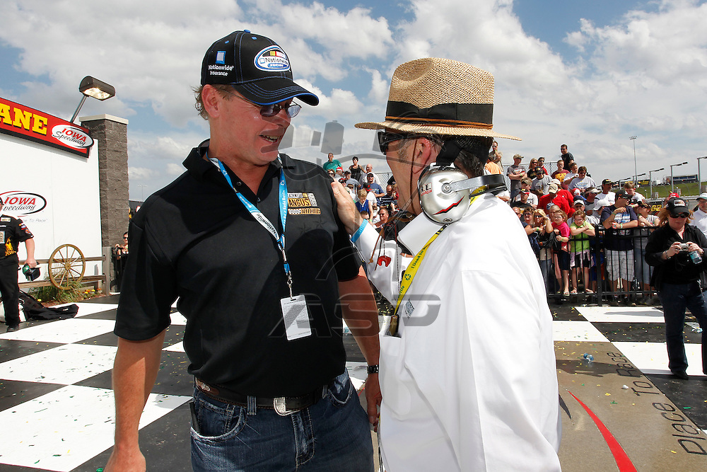 NEWTON, IA - MAY 22, 2011: Ricky Stenhouse, Jr. (6) wins the  The Inaugural Iowa John Deere Dealers 250 race at the Iowa Speedway in Newton, IA.