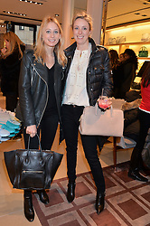 Left to right, KATHERINE HOLMGREN and STEPHANIE PHAIR at a Valentine's Ladies breakfast hosted by Tod's and Carolina Bonfiglio at the Tod's boutique in New Bond Street, London on 10th February 2015.