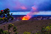 Halemaumau Crater, Erupting, Hawaii Volcanoes National Park, Island of Hawaii