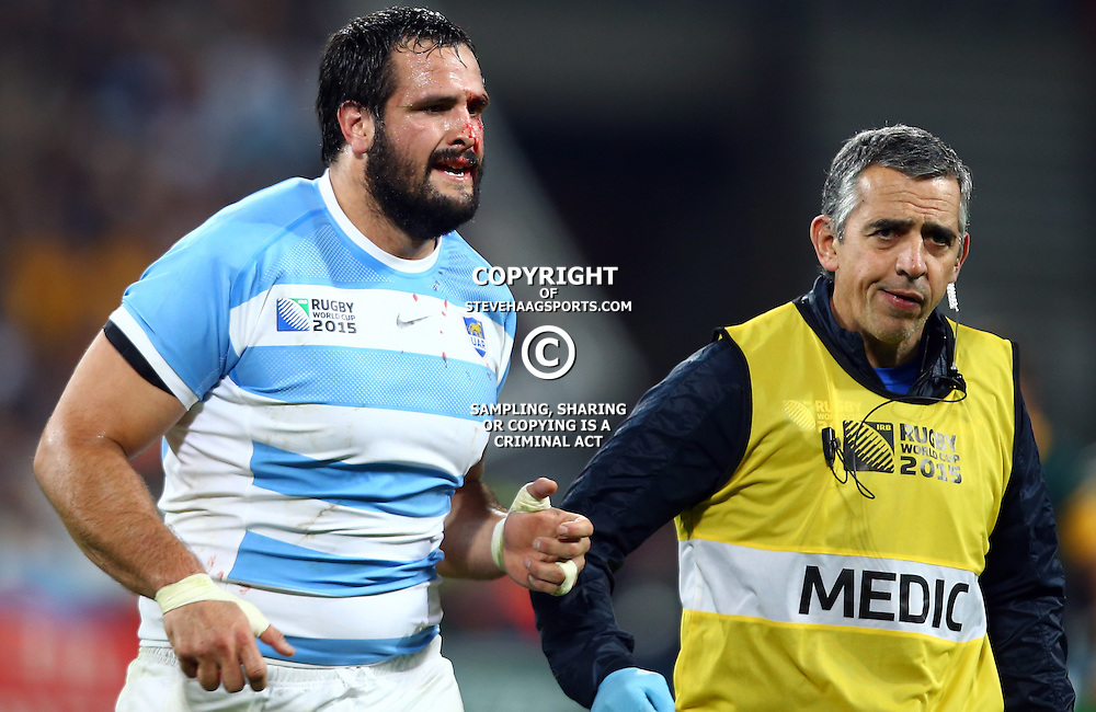 LONDON, ENGLAND - OCTOBER 30: Marcos Ayerza of Argentina during the Rugby World Cup 3rd Place Playoff match between South Africa and Argentina at Olympic Stadium on October 30, 2015 in London, England. (Photo by Steve Haag/Gallo Images)