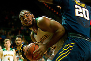 WACO, TX - JANUARY 28: Rico Gathers #2 of the Baylor Bears drives to the basket against the West Virginia Mountaineers on January 28, 2014 at the Ferrell Center in Waco, Texas.  (Photo by Cooper Neill/Getty Images) *** Local Caption *** Rico Gathers