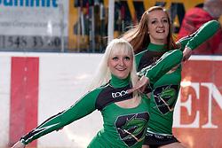 Cheerleaders Ice Ladies during ice-hockey match between HDD Tilia Olimpija and HK Acroni Jesenice in second game of Final at Slovenian National League, on April 3, 2011 at Hala Tivoli, Ljubljana, Slovenia. (Photo By Matic Klansek Velej / Sportida.com)