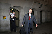 Andy Coulson leaves the Old Bailey after it was revealed that Coulson &amp; Brooks had a six year affair on October 31, 2013.<br /> <br /> Brooks will stand trial alongside former managing editor Stuart Kuttner; former news editor Ian Edmondson; and Rebekah Brooks. All deny conspiracy to intercept mobile phone voicemail messages. Coulson and former NotW royal editor Clive Goodman deny charges of conspiracy to commit misconduct in a public office. Brooks also denies two charges of this. She also faces charges of conspiracy to pervert the course of justice, along with former personal assistant Cheryl Carter, 49, husband Charlie Brooks, 50, and NI head of security Mark Hanna, 50. <br /> Photo Ki Price