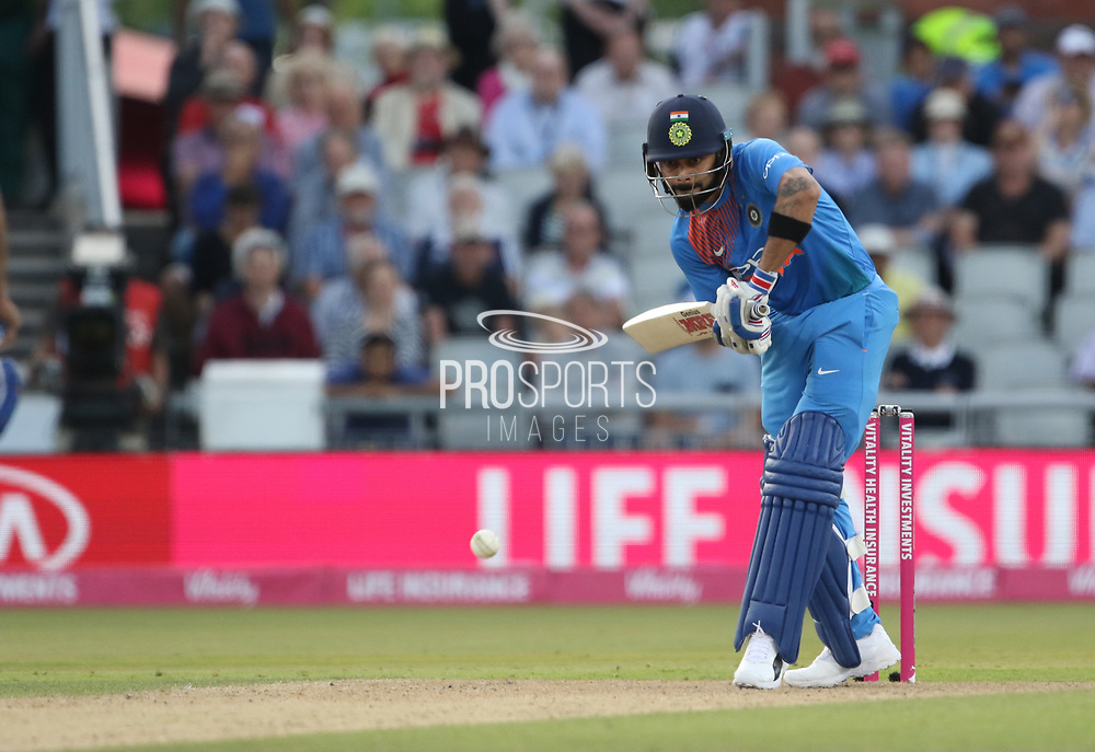 Virat Kohli (Capt) during the International T20 match between England and India at Old Trafford, Manchester, England on 3 July 2018. Picture by George Franks.