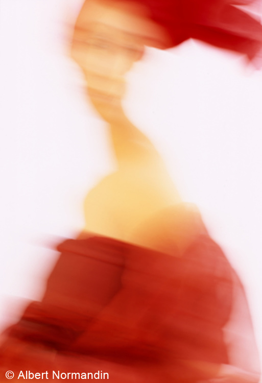 Red cloth abstract blur