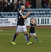 Dundee&rsquo;s Gary Harkins and mascot - Dundee v Hearts - Ladbrokes Premiership at Dens Park <br />  - &copy; David Young - www.davidyoungphoto.co.uk - email: davidyoungphoto@gmail.com