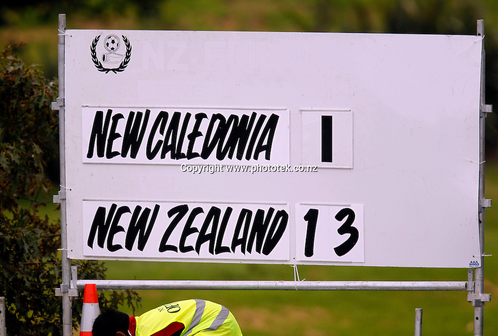 New Zealand win the match comprehensively.  OFC U-17 Women's Championship, New Caledonia v New Zealand, Centre Park Mangere, Wednesday 11th April 2012. Photo: Shane Wenzlick