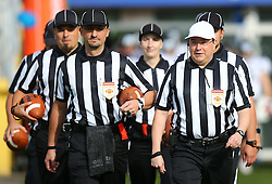20.06.2015, Hohe Warte, Wien, AUT, AFL, AFC Vikings Vienna vs Prag Panthers, im Bild Referee Team // during the Austrian Football League game between AFC Vikings Vienna and Prague Panthers at the Hohe Warte, Wien, Austria on 2015/06/20. EXPA Pictures © 2015, PhotoCredit: EXPA/ Thomas Haumer