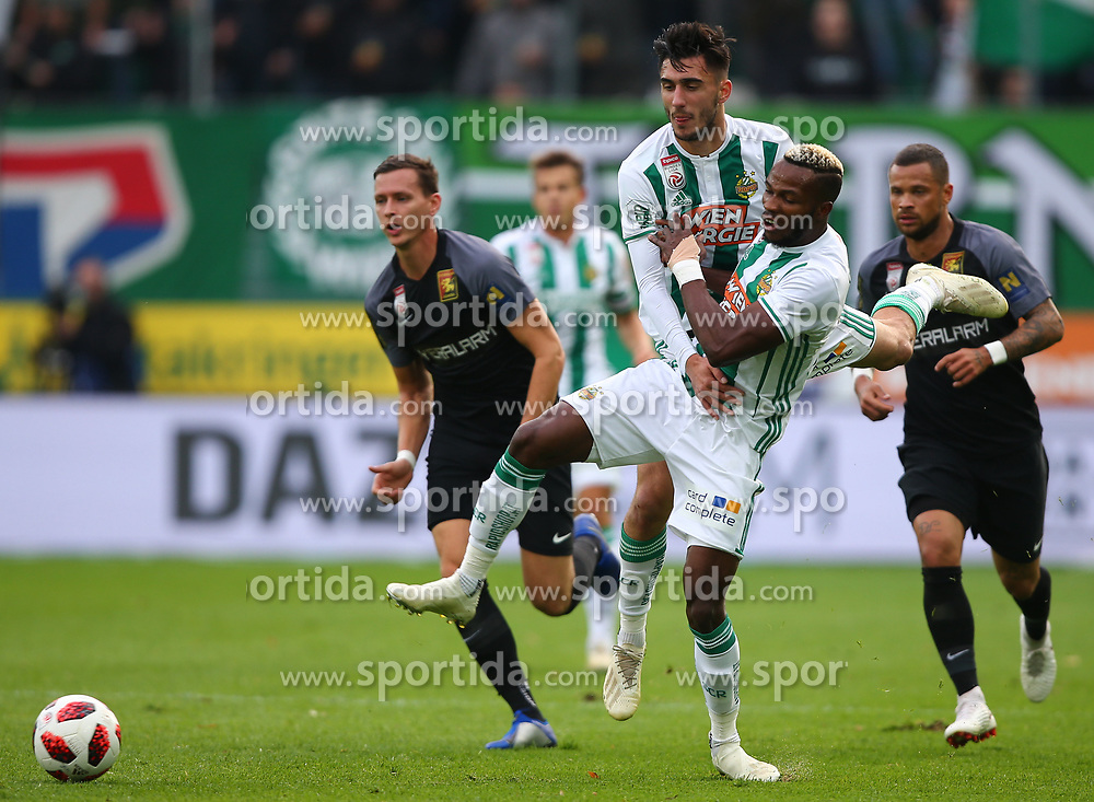 28.10.2018, Allianz Stadion, Wien, AUT, 1. FBL, SK Rapid Wien vs FC Flyeralarm Admira, 12. Runde, im Bild Andrei Virgil Ivan (SK Rapid Wien) und Boli Bolingoli Mbombo (SK Rapid Wien) // during Austrian Football Bundesliga Match, 12th Round, between SK Rapid Vienna and FC Flyeralarm Admira at the Allianz Arena, Vienna, Austria on 2018/10/28. EXPA Pictures © 2018, PhotoCredit: EXPA/ Thomas Haumer