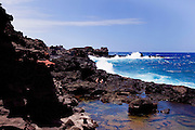 Bellstone tidal pools,aka Olivine Pools, Maui, Hawaii