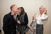 ROBERT NEWMARK; CAROLE SILLER; AMANDA CRONIN, Launch of PRPS new luxury denim line called NOIR whilst raising money for Unicef Japan. Nobu. Berkeley St. London. 5 September 2011. <br /> <br />  , -DO NOT ARCHIVE-© Copyright Photograph by Dafydd Jones. 248 Clapham Rd. London SW9 0PZ. Tel 0207 820 0771. www.dafjones.com.