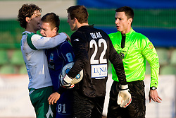 Ferreira F. De Abreu of Olimpija, Robert Kurez of Drava and Goalkeeper of Olimpija Jan Oblak at 18th Round of PrvaLiga football match between NK Olimpija and NK Labod Drava, on November 21, 2009, in ZAK, Ljubljana, Slovenia. Olimpija defeated Drava 3:0. (Photo by Vid Ponikvar / Sportida)