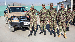 © Licensed to London News Pictures. 04/08/2014. Qargha, Afghanistan.  Afghanistan's Ministry of Defence said an Afghan soldier was shot dead after he opened fire on international and Afghan troops at the base near Kabul.   The training academy is modelled on UK military academy Sandhurst and will be the only British military presence in Afghanistan when operations end this year.  Photo credit: Alison Baskerville/LNP