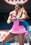 Serena Williams (USA) defeated V. Dolonc (SRB) 6-1, 6-2 during day three play of the 2014 Australian Open. Temperatures in Melbourne's Rod Laver Arena are reaching 43 C /109.4 F in a predicted four day long heat wave to the southern coast of the continent.