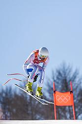 February 15, 2018 - Jeongseon, Gangwon, South Korea - Bryce Bennett of United States competing in mens downhill at Jeongseon Alpine Centre at Jeongseon , South Korea on February 15, 2018. (Credit Image: © Ulrik Pedersen/NurPhoto via ZUMA Press)