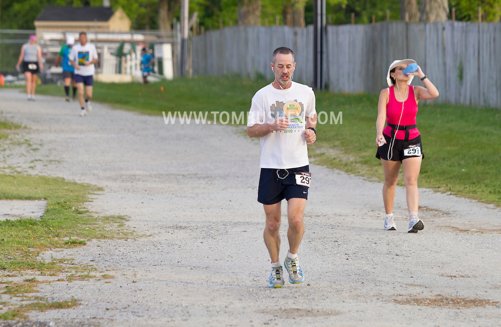 Augusta, New Jersey - Runners compete in 48- and 72-hour races during the 3 Days at the Fair races at Sussex County Fairgrounds on May 12, 2012.