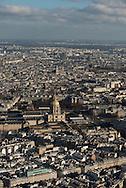 France. Paris. 7th district.  the invalides and Paris cityscape . Paris vue d'en haut, les invalides