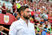 Bristol City manager Lee Johnson during the EFL Sky Bet Championship match between Bristol City and Nottingham Forest at Ashton Gate, Bristol, England on 4 August 2018. Picture by Graham Hunt.