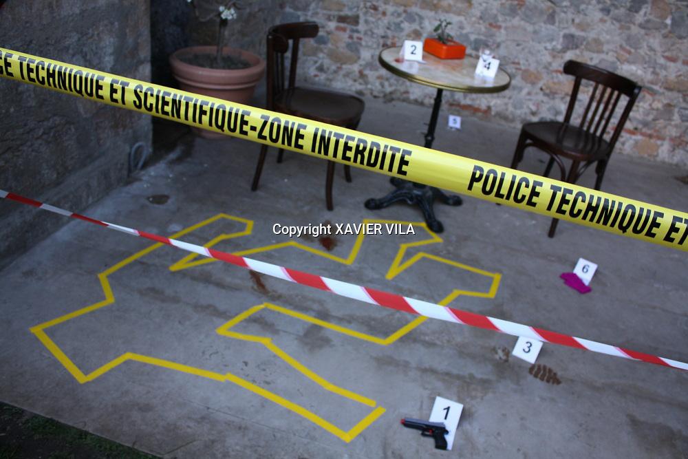 Scène de crime au quai du polar de Lyon
