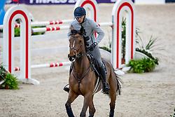 VON ECKERMANN Henrik (SWE), Toveks Mary Lou<br /> Göteborg - Gothenburg Horse Show 2019 <br /> Longines FEI Jumping World Cup™ Final<br /> Training Session<br /> Warm Up Springen / Showjumping<br /> Longines FEI Jumping World Cup™ Final and FEI Dressage World Cup™ Final<br /> 03. April 2019<br /> © www.sportfotos-lafrentz.de/Stefan Lafrentz