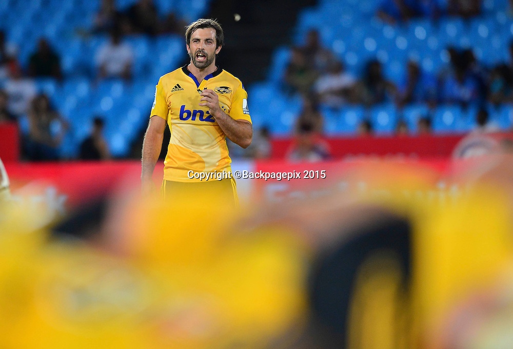 Conrad Smith of the Hurricanes during the 2015 Super Rugby rugby match between the Bulls and the Hurricanes at Loftus Versfeld in Pretoria, South Africa on February 20, 2015 ©/BackpagePix
