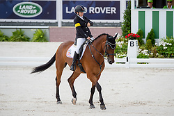 Sydney Collier, (USA), Willi Wesley - Individual Test Grade Ib Para Dressage - Alltech FEI World Equestrian Games™ 2014 - Normandy, France.<br /> © Hippo Foto Team - Jon Stroud <br /> 25/06/14