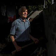 Peter Mulryan, a former resident of the St. Mary's Mother and Baby Home in Tuam, working at his family home in Ballinasloe, Ireland. Mulryan, who grew up in a abusive foster family, is seeking information about the fate of the infant sister he has never known after she went into the St. Mary's Mother and Baby Home in Tuam. He says Catherine Corless, whose research uncovered a pit at the home where it is suspected many children were buried, contacted him in 2014 to say she believed she had identified his sister among the 796 children interred at the site.
