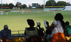 Johannesburg 19-12-18. South Africa Invitation XI vs Pakistan. Pakistan open their tour of South Africa with a three-day match at Sahara Willowmoore Park, Benoni. Day 1.  Women fans watch the afternoon session. Picture: Karen Sandison/African News Agency(ANA)