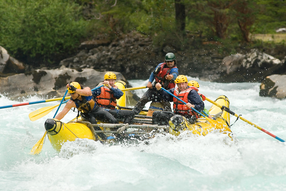 Rafting the whitewater of Chile's Futaleufu River.