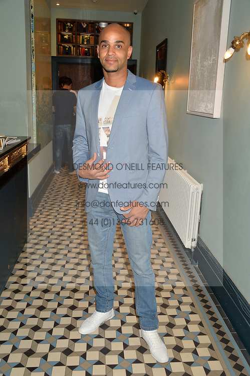 LEON McKENZIE at the launch of Give Me Sport Magazine held at Library, 112 St.Martin's Lane, London on 30th July 2014.