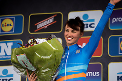 Kasia Niewiadoma is back in the U23 UCI Women's WorldTour jersey - Women's Ronde van Vlaanderen 2016. A 141km road race starting and finishing in Oudenaarde, Belgium on April 3rd 2016.