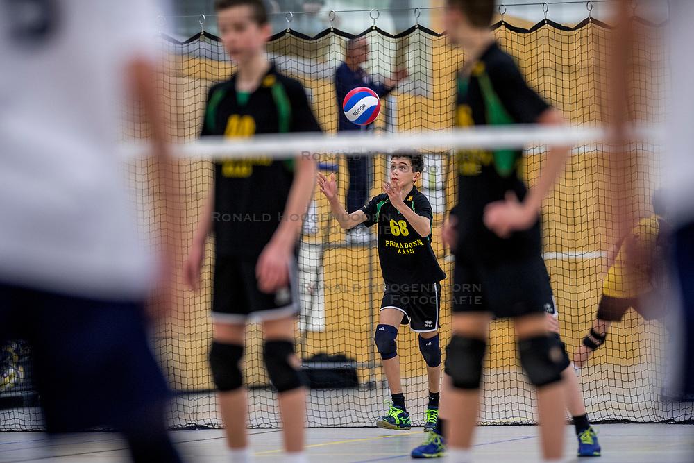 31-03-2018 NED: Finale C Volleybaldirect Open, Wognum<br /> 16 teams van meisjes en jongens C streden om het Nederlands Kampioenschap / PDK Huizen