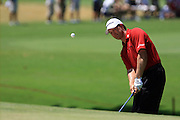 11 August 2007: Retief Goosen ships onto the 3rd green during the third round of the 89th PGA Championship at Southern Hills Country Club in Tulsa, OK.