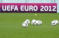FUSSBALL INTERNATIONAL  EURO 2012   07.06.2012  Training der Deutschen Nationalmannschaft in Danzig Werbebande UEFA EURO 2012