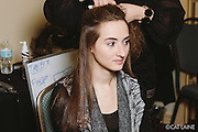 PROVIDENCE, RI - FEB 13: Chelsey Angers backstage prior to the Stetkewicz show as part of StyleWeek NorthEast on February 13, 2015 in Providence, Rhode Island. (Photo by Cat Laine)