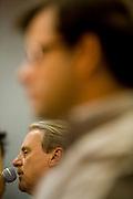 Campanha Marcio Lacerda..O candidato Marcio Lacerda (PSB) participa de debate promovido pelo jornal Hoje em Dia com o candidato Leonardo Quintao (PMDB). ..Fotos: Leo Drumond / NITRO