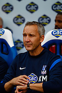 Picture by David Horn/Focus Images Ltd +44 7545 970036<br /> 26/10/2013<br /> Keith Millen , Caretaker Manager of Crystal Palace looks at his watch during the Barclays Premier League match at Selhurst Park, London.