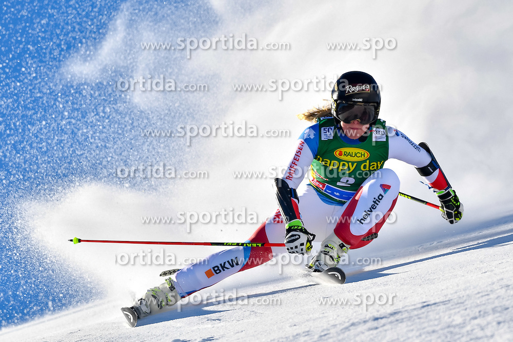 22.10.2016, Rettenbachferner, Soelden, AUT, FIS Weltcup Ski Alpin, Soelden, Riesenslalom, Damen, 1. Durchgang, im Bild Lara Gut (SUI) // Lara Gut of Switzerland in action during 1st run of ladies Giant Slalom of the FIS Ski Alpine Worldcup opening at the Rettenbachferner in Soelden, Austria on 2016/10/22. EXPA Pictures &copy; 2016, PhotoCredit: EXPA/ Nisse Schmid<br /> <br /> *****ATTENTION - OUT of SWE*****