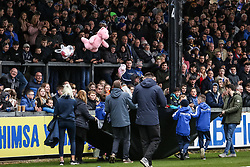 Teddy bears are thrown from the crowd as part of the match for Emilia - Mandatory by-line: Joe Dent/JMP - 21/12/2019 - FOOTBALL - Memorial Stadium - Bristol, England - Bristol Rovers v Peterborough United - Sky Bet League One